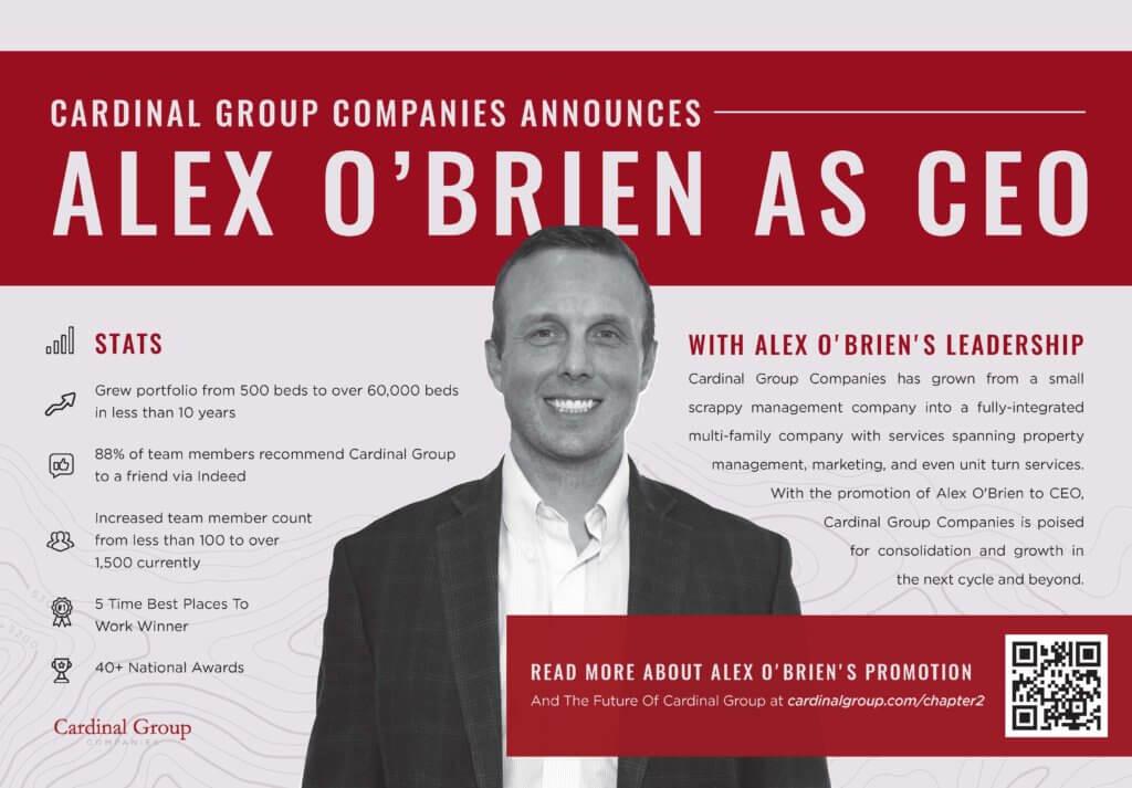 CGC AOBCEOAnnouncementAd 06.02.2020 v2 1024x713 - Cardinal Group Companies Promotes Alex O'Brien To CEO